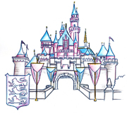 Sleeping Beauty Castle, Included in the New Park Icon Sketch Collection Debuting at Disneyland Park