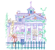Haunted Mansion, Included in the New Park Icon Sketch Collection Debuting at Disneyland Park