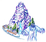 Matterhorn Bobsleds, Included in the New Park Icon Sketch Collection Debuting at Disneyland Park