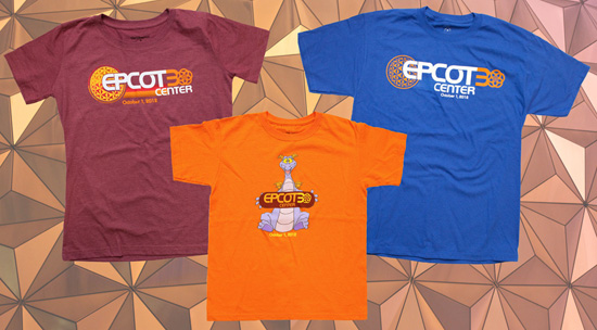 "Commemorate the 30th Anniversary of Epcot With New Merchandise, Including the ""Epcot 30"" Logo Shirts, Starting September 28"