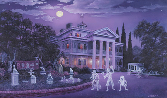 Haunted Mansion Artwork by Larry Dotson