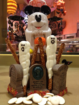 Oooey-Gooey Ghoulish Delights from the Disneyland Resort Candy Kitchens Featuring Pretzel Ghost