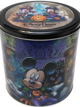 Oooey-Gooey Ghoulish Delights from the Disneyland Resort Candy Kitchens Featuring Popcorn Tin