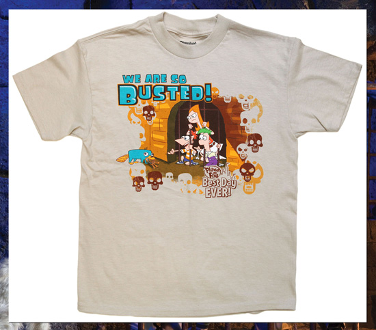 New Shirts Have Phineas & Ferb Enjoying the Best Day Ever at Disney Parks