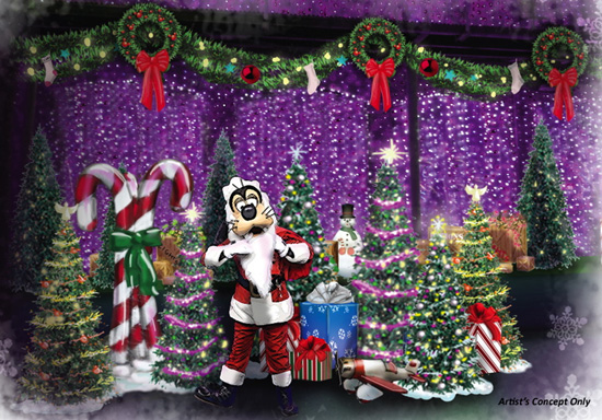 Santa Goofy Joins the Fun at The Osborne Family Spectacle of Dancing Lights at Disney's Hollywood Studios