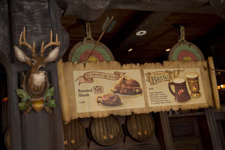 Inside Gaston's Tavern in New Fantasyland at Magic Kingdom Park