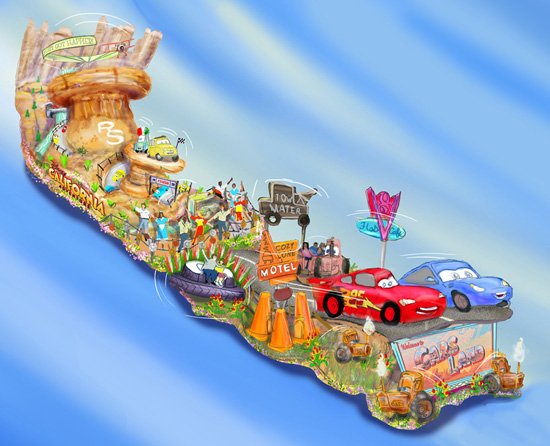 Disneyland Resort to Feature Cars Land-Inspired Float in the 124th Rose Parade