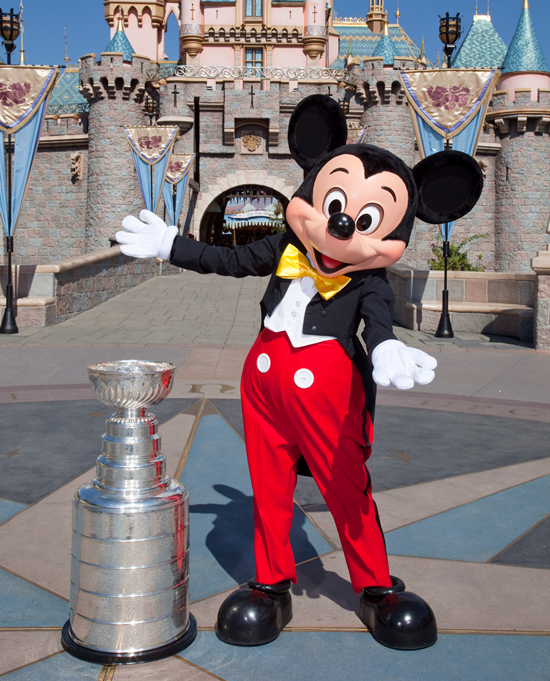 The Stanley Cup Visits Mickey Mouse and Sleeping Beauty Castle at Disneyland Park