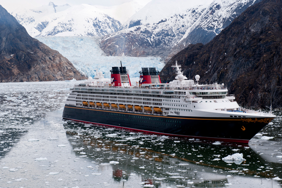 Disney Cruise Line Travels to Tracy Arm, Alaska