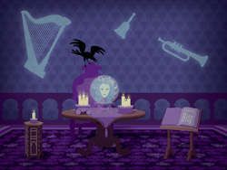 Desktop Wallpaper Featuring Madame Leota in the Haunted Mansion