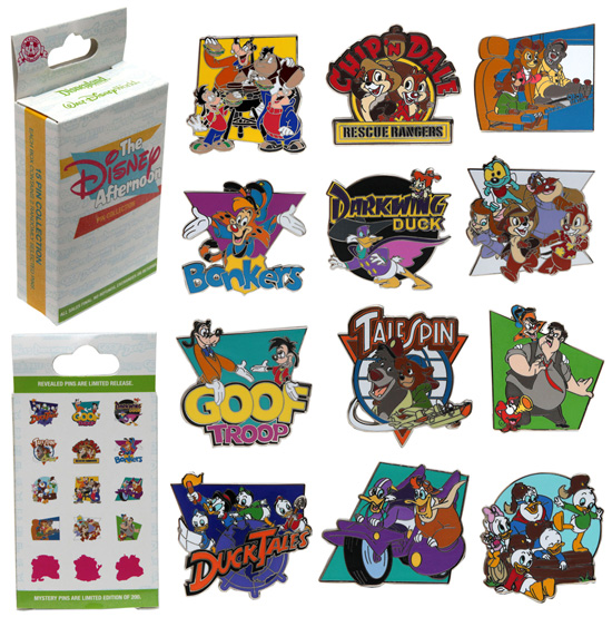 New Disney Afternoon Pin Set