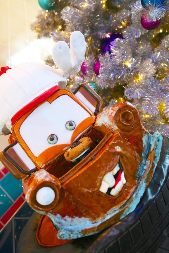 Gingerbread Mater in Flo's V-8 Café at Disney California Adventure Park