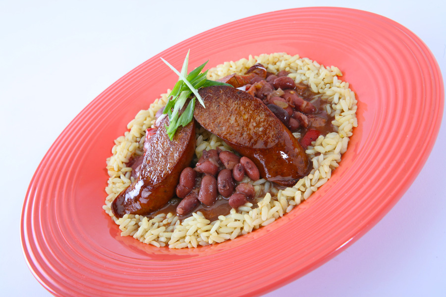 Red Beans and Rice With Andouille Sausage at French Market Restaurant ...