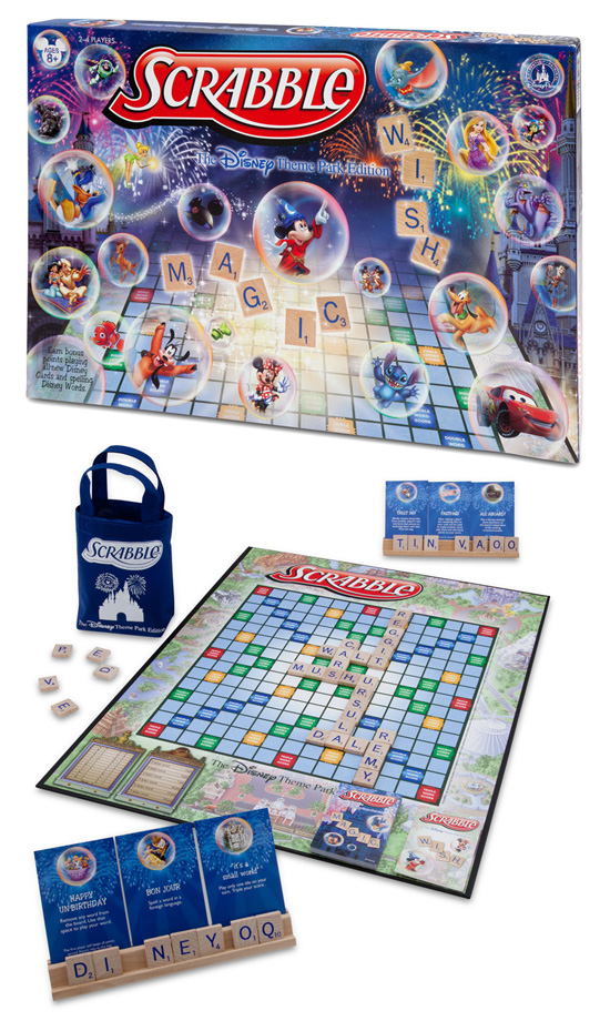 Disney-Themed Scrabble Coming to Disney Parks