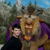Actress Ginnifer Goodwin, who portrays Snow White on the ABC series 'Once Upon a Time,' poses Dec. 6, 2012 with 'Beast' from Disney's classic film, 'Beauty and the Beast,' in front of The Beast's Castle at the Magic Kingdom theme park in Lake Buena Vista, Fla.  Goodwin was one of the celebrities on hand to celebrate today's Grand Opening of New Fantasyland at Walt Disney World Resort.