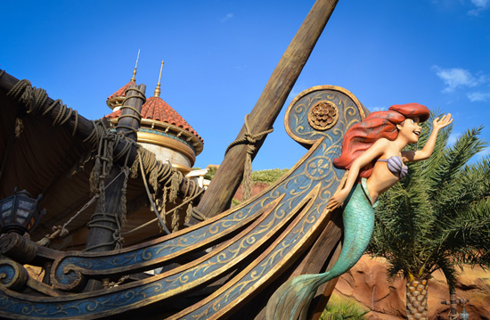 The New Under the Sea - Journey of the Little Mermaid Attraction at Magic Kingdom Park