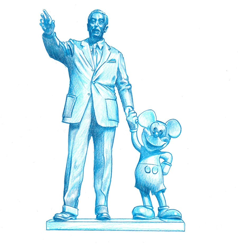 New Walt Disney Inspired Park Icon Sketches Coming to Disneyland Park