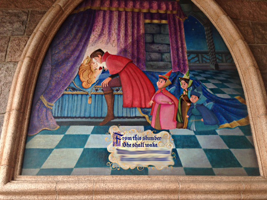 Do You Know What This Sign in Sleeping Beauty Castle at Disneyland Park Says?