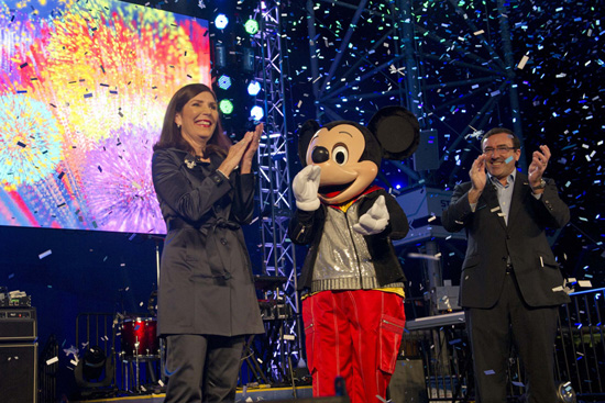 "Walt Disney World Resort's Meg Crofton and GM's Alan Batey Led an ""Accelebration!"" During the Grand Opening of Test Track Presented by Chevrolet"