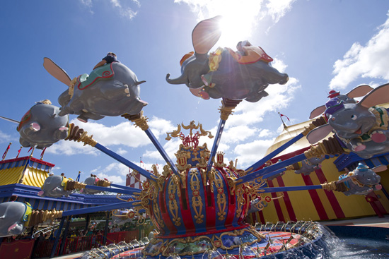Dumbo the Flying Elephant at Storybook Circus in Magic Kingdom Park