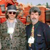 Steven Spielberg and George Lucas attend the Grand Opening Celebration of Mickey's Toontown at Disneyland park in January 1993