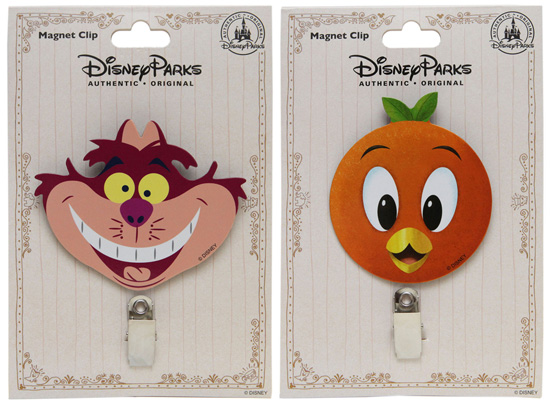 Cheshire Cat and Orange Bird Magnets from Disney Parks