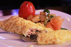 Smoked Salmon Omelette at Raglan Road Irish Pub & Restaurant Sunday Brunch at Downtown Disney Pleasure Island