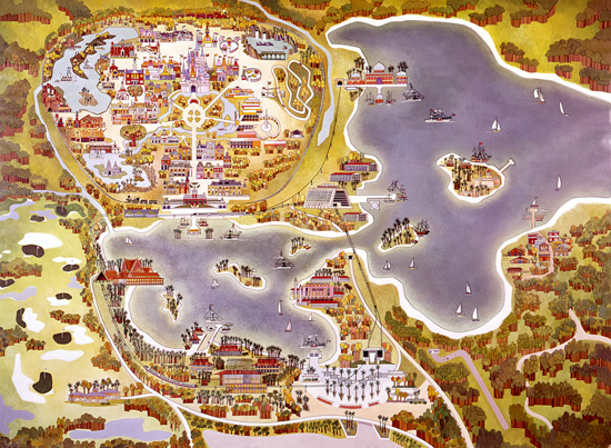Old Map of Walt Disney World Resort Property