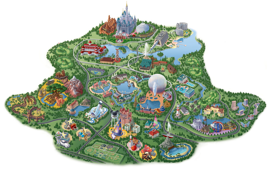 Vintage walt disney world old maps of walt disney world resort map of walt disney world resort as its been developed today gumiabroncs Choice Image