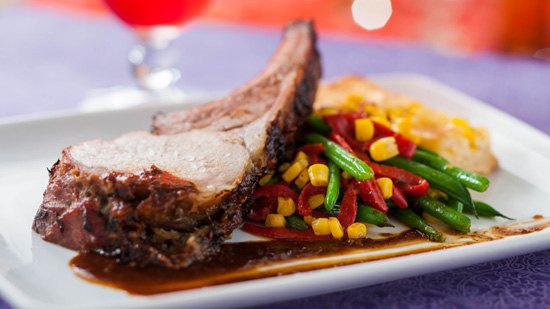 Carved Bone-in Pork at Shutters Restaurant at Disney's Caribbean Beach Resort