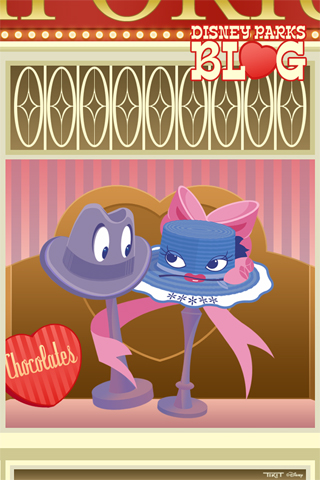 Disney Parks Blog Valentine's Day iPhone/Android Wallpaper