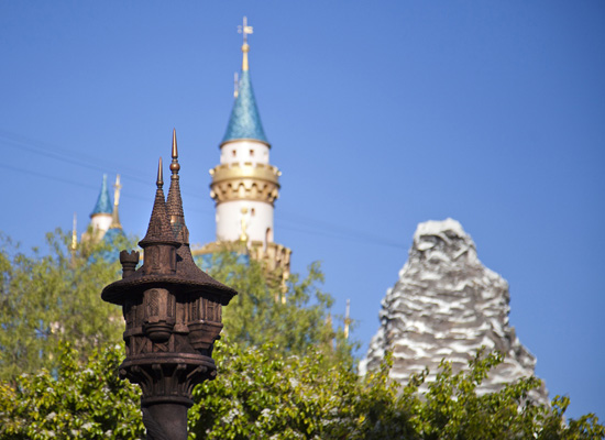 Tangled Tower from Inside the New Fantasy Faire at Disneyland Park