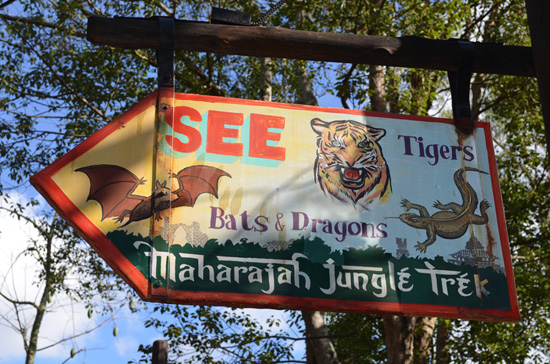 Finish That Disney Parks Sign: Heading on a Maharajah Jungle Trek at Disney's Animal Kingdom