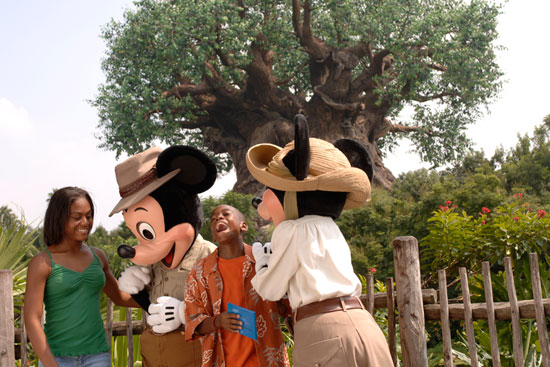 Meet Mickey and Minnie at the New Adventurers Outpost in Disney's Animal Kingdom