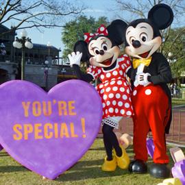 Mickey and Minnie at Walt Disney World Resort, Valentine's Day 1995