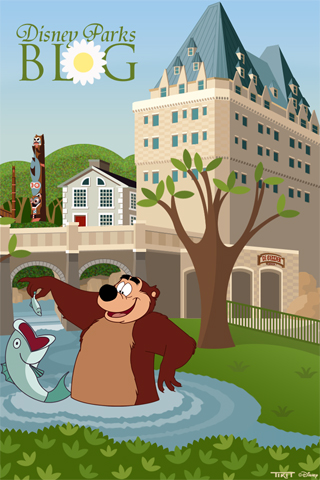 Disney Parks Blog Canada Pavilion at Epcot iPhone/Android Wallpaper