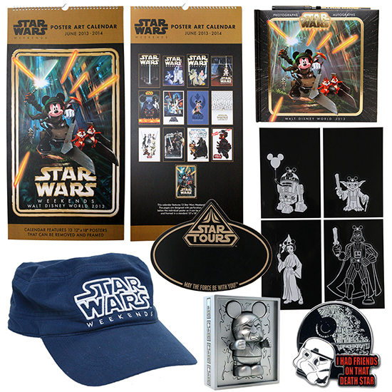 First Look at Star Wars Weekends 2013 Merchandise at Disney's Hollywood Studios, Including an Oversized Calendar With 13 Previous Star Wars Weekends Posters
