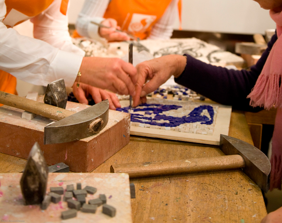 Roman Art – Mosaic Workshop with Wine and Cheese
