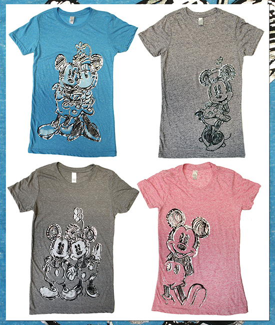 This collection of Tees Features Mickey Mouse and Minnie Mouse