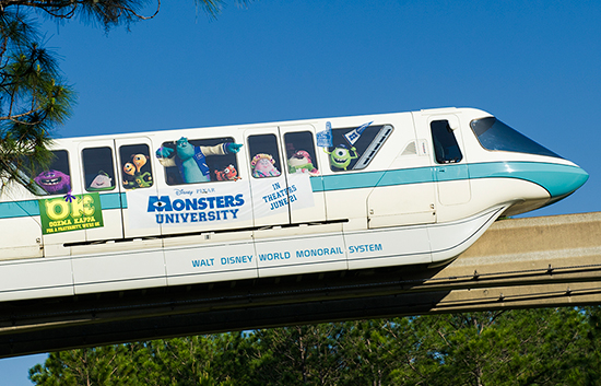 This Week in Disney Parks Photos: Monsters University Monorail