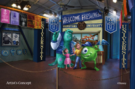 Meeting Mike and Sulley at Disney's Hollywood Studios