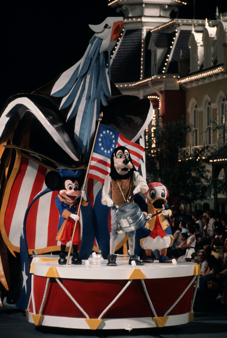 America on Parade Ran From June 1975 Until September 1976 on Main Street, U.S.A., at Magic Kingdom Park