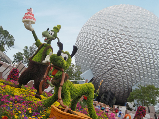 Goofy and Pluto Topiaries at the 2013 Epcot International Flower & Garden Festival