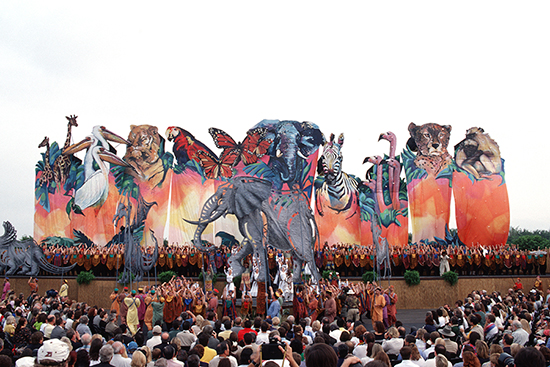 On April 21, 1998, Walt Disney World Resort Dedicated its Fourth Theme Park, Disney's Animal Kingdom, in a Colorful Ceremony Celebrating Animals Real, Ancient and Imagined