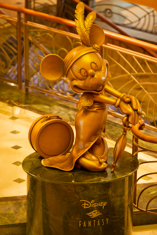 The Atrium Statue on the Disney Fantasy