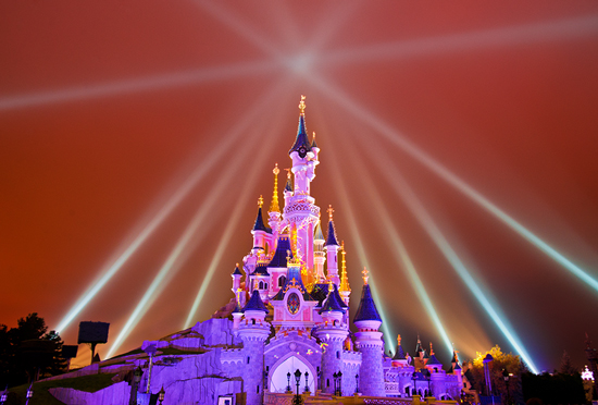 Disney Parks After Dark: Sleeping Beauty Castle at Disneyland Paris