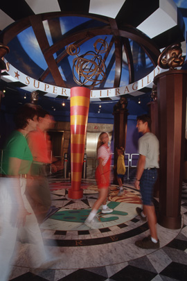 An Archived Marketing Shot of the Lobby of DisneyQuest at Downtown Disney