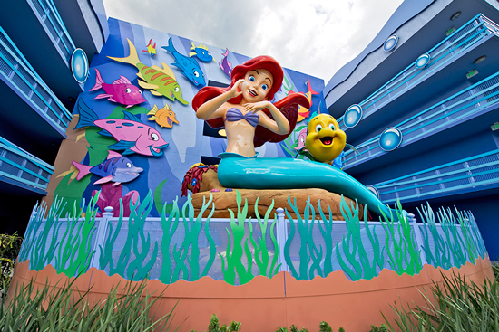 Ariel, from 'The Little Mermaid' outside of Disney's Art of Animation Resort