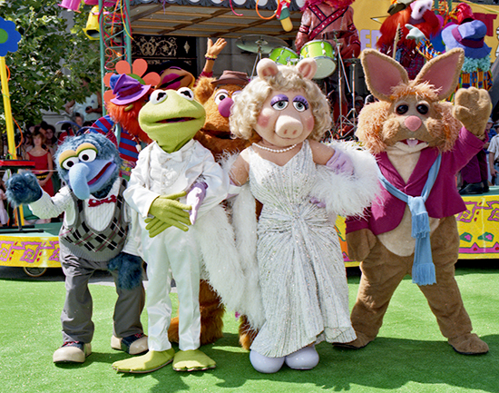 The Green Carpet is Rolled Out at Disney's Hollywood Studios in 1991 for the Official Opening of Muppet*Vision 3D at Walt Disney World Resort