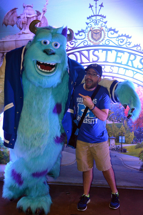 Disney Parks Blog Author Nate Rasmussen and Sulley from 'Monsters University'